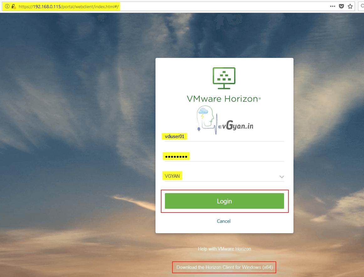 Horizon View 7 5 : User Entitlements to Horizon View Desktop Pools