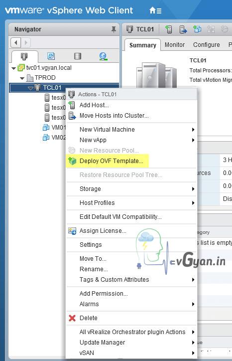 vSphere Replication: Deploy vSphere Replication Appliance